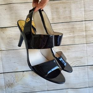 Micheal Kors Rochelle Patent Leather Strap Sandal